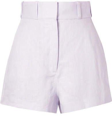 Ninety-six Racer Linen Shorts - Lavender