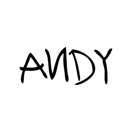 Online Shop 18.3*7.5CM Toy Story ANDY Signature Lovely Vinyl Car-Styling Stickers Creative Car Body Decals Black/Silver C9-0447   Aliexpress Mobile