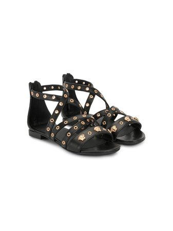 Versace Kids Medusa-embellished Flat Sandals - Farfetch
