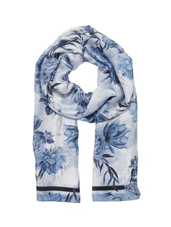 Buy Forever New Women Blue & Off White Printed Scarf - Scarves for Women 11805894 | Myntra