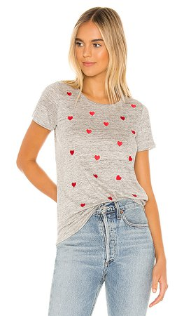 Chaser Love Stitches Tee in Heather Grey | REVOLVE