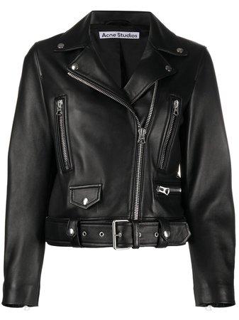 Acne Studios Leather Biker Jacket - Farfetch
