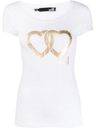 Love Moschino Interlocking Heart T-Shirt