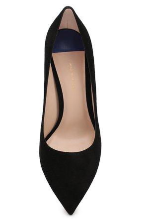 Женские черные замшевые туфли leigh на шпильке STUART WEITZMAN — купить за 32350 руб. в интернет-магазине ЦУМ, арт. YL99061