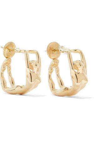 Paola Vilas   Louise gold-plated earrings   NET-A-PORTER.COM