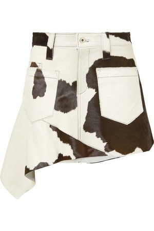 Marques' Almeida | Asymmetric calf hair mini skirt | NET-A-PORTER.COM