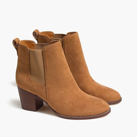 J.Crew Factory: Rory Mircosuede Heeled Boots For Women