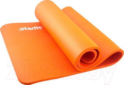 Starfit FM-301 NBR (183x58x1.5см, оранжевый) Коврик для йоги и фитнеса (гимнастический коврик) купить в Минске