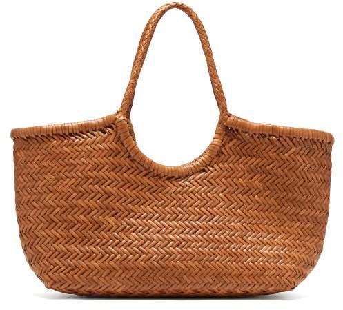 Diffusion - Nantucket Woven Leather Basket Bag - Womens - Tan