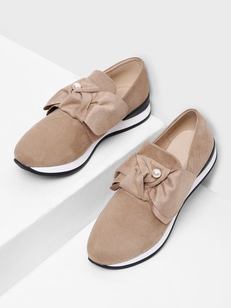 Bow Decorated Low Top Sneakers