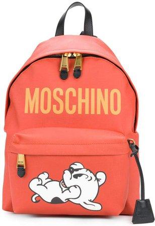 dog print backpack
