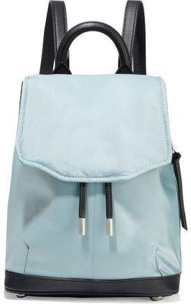 Pilot Mini Leather-trimmed Shell Backpack