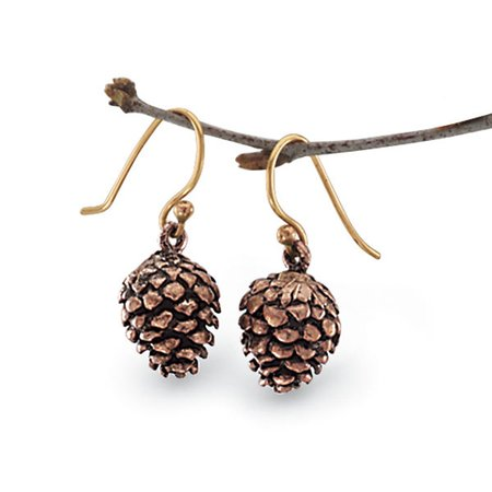 Handcrafted Copper Pinecone Earrings & Affordable Fashion Jewelry - Shop Now