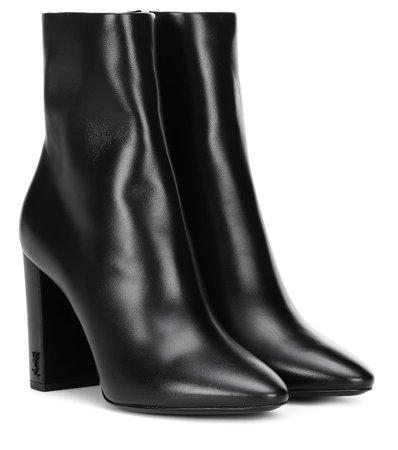 Lou 95 Leather Ankle Boots - Saint Laurent   mytheresa