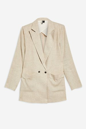 Linen Mix Jacket - Jackets & Coats - Clothing - Topshop