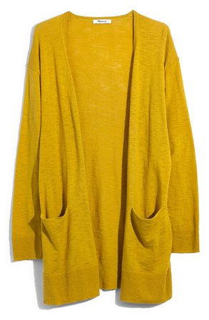 Madewell Summer Ryder Cardigan  yellow