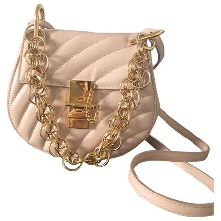 Drew leather crossbody bag Chloé Pink in Leather - 8354466