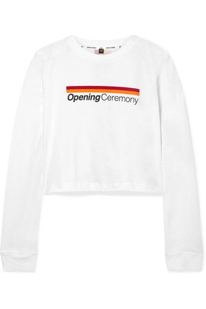 Opening Ceremony | Cropped printed cotton-jersey top | NET-A-PORTER.COM