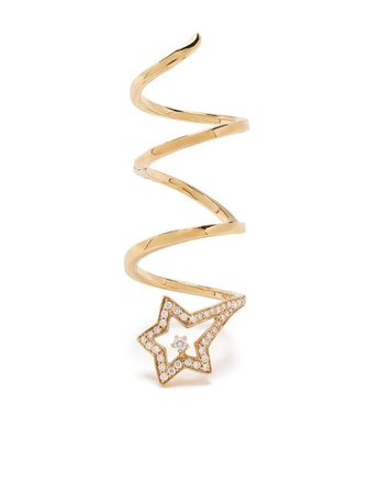 Stefere 18kt Yellow Gold Diamond Star Ring - Farfetch