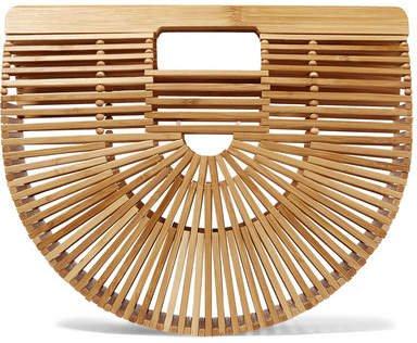 Cult Gaia - Ark Small Bamboo Clutch - Sand | Fashmates.com