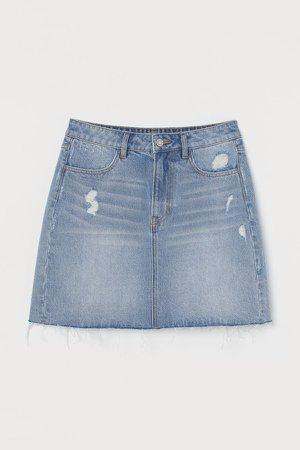 Denim Skirt - Blue
