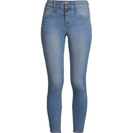 Sofia Jeans by Sofia Vergara - Sofia Jeans Rosa Curvy Seamed V Yoke High Waist Ankle Jean Women's - Walmart.com blue