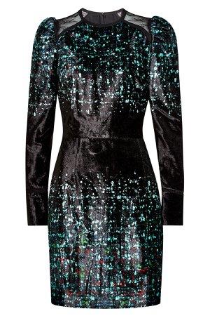 Printed Velvet Dress Gr. FR 38