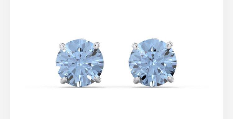 light blue earrings royal vault