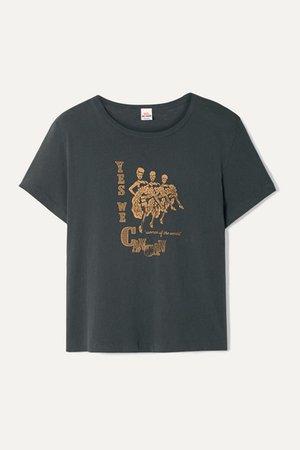 RE/DONE | + Hanes Classic T-Shirt aus Baumwoll-Jersey mit Print | NET-A-PORTER.COM