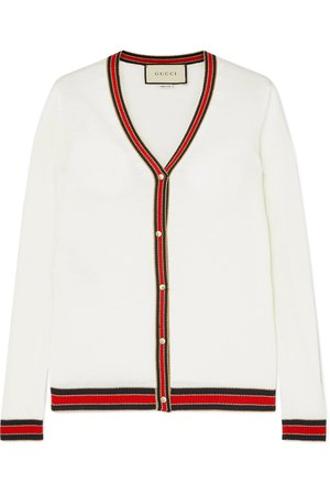 Gucci | Striped wool cardigan | NET-A-PORTER.COM