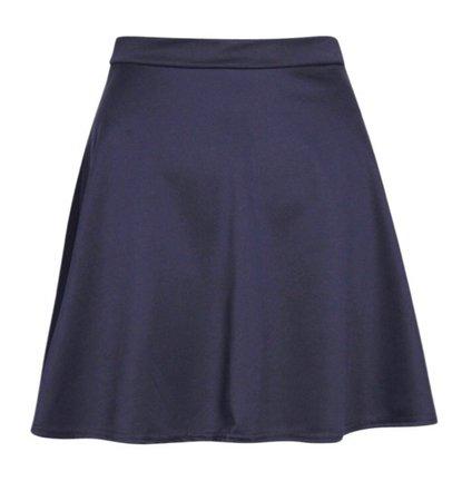 Navy Mini Flare Skirt