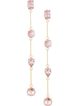 Oscar De La Renta crystal-embellished clip-on Earrings - Farfetch
