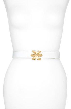 Raina Double Bee Clasp Leather Belt | Nordstrom
