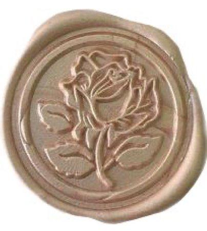 beige flower seal
