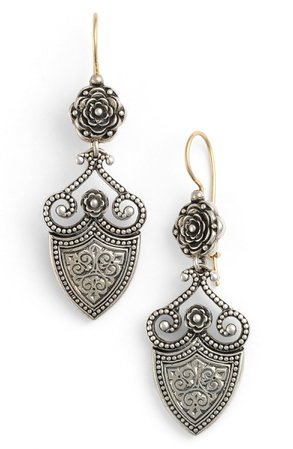 Konstantino 'Silver Classics' Shield Drop Earrings | Nordstrom