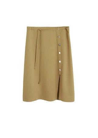Violeta BY MANGO Buttoned midi skirt