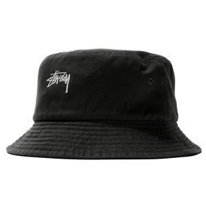 black stussy bucket hat
