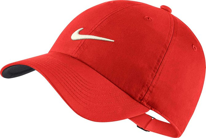 NIKE Heritage86 Statement Golf Cap 2019 Habanero Red/Anthracite/Sail One Size Fits All at Amazon Men's Clothing store