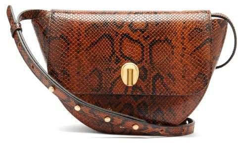 Billy Snake Effect Leather Shoulder Bag - Womens - Python