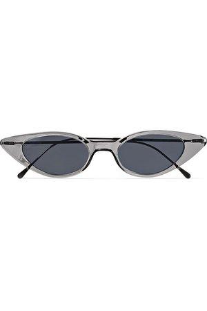 Illesteva   Marianne cat-eye acetate and gunmetal-tone sunglasses   NET-A-PORTER.COM