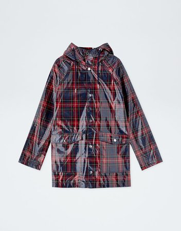 Plaid Vinyl Raincoat