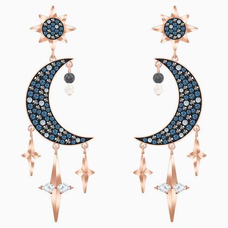 Swarovski Symbolic Pierced Earrings, Multi-colored, Mixed metal finish   Swarovski.com