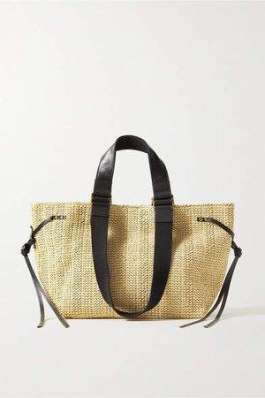 Bagya Leather And Canvas-trimmed Raffia Tote - Beige