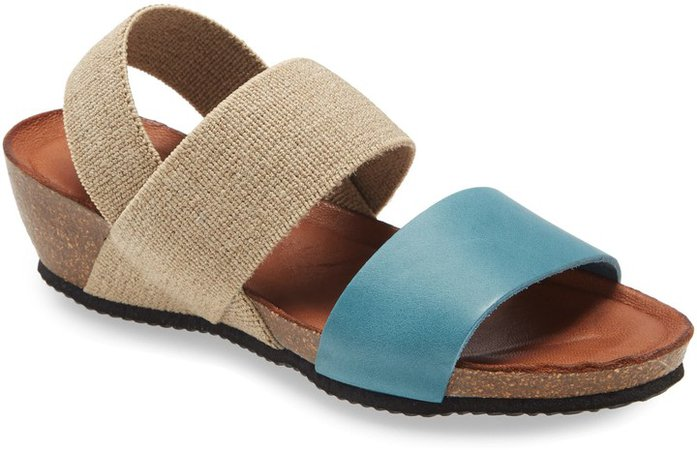 Double Strap Wedge Sandal