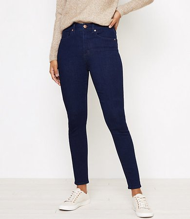 High Waist Skinny Jeans in Dark Rinse