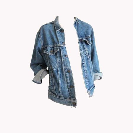 Jean Jacket w/ Sleeves Rolled Up