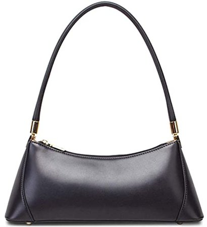 Barabum Retro Classic Hobo Clutch Shoulder Baguette Bag with Zipper Closure for Women (Black): Shoes