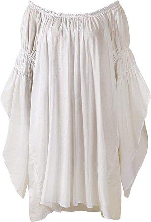 ReminisceBoutique Renaissance Medieval Peasant Dress Up Pirate Faire Celtic Blouse at Amazon Women's Clothing store