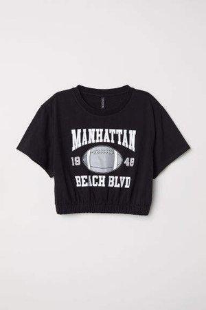 Short T-shirt - Black