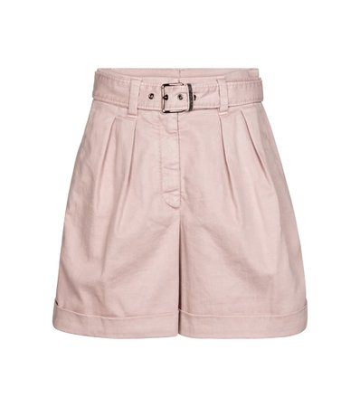 Brunello Cucinelli - High-rise stretch cotton-blend shorts | Mytheresa
